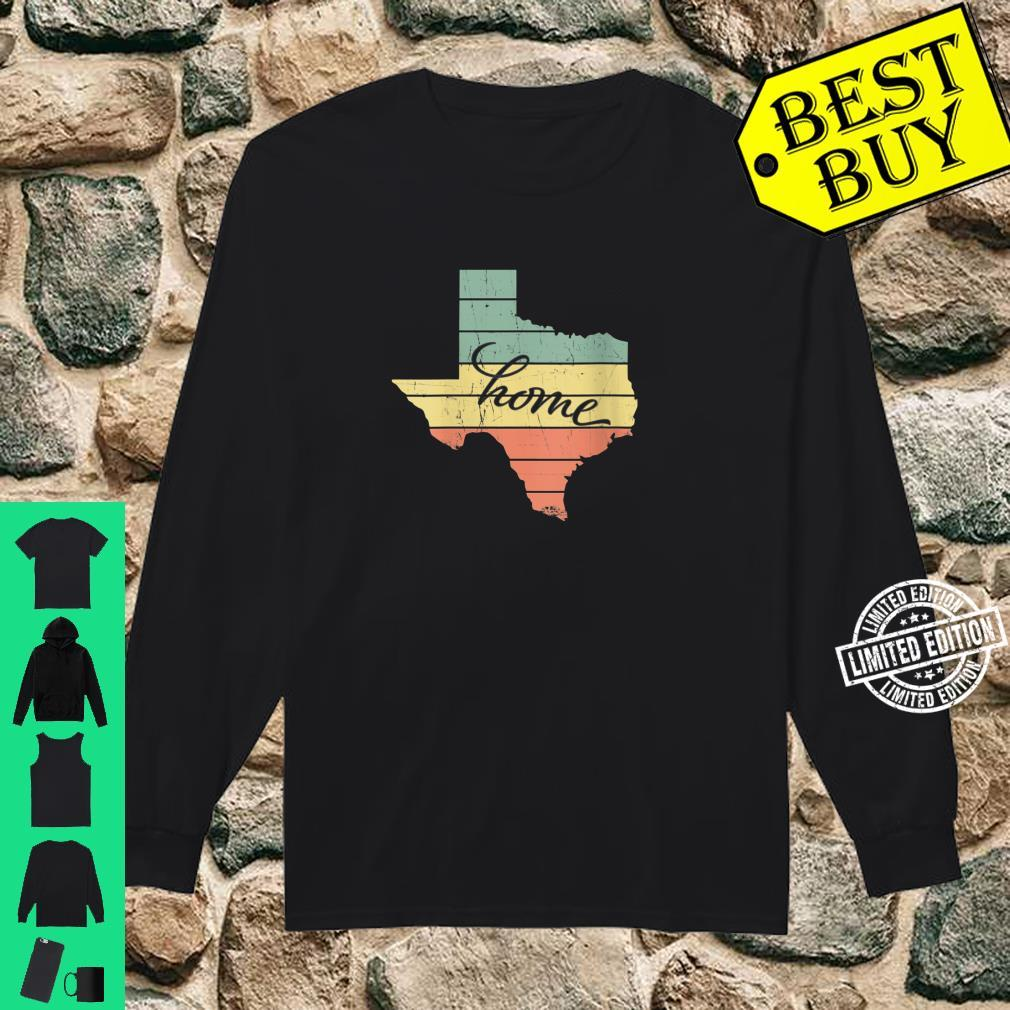 Womens Texas State Home Pride Vintage Retro Shirt long sleeved