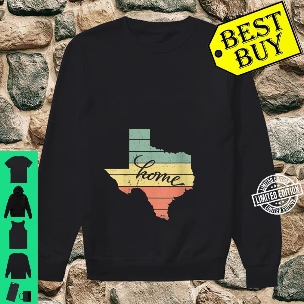 Womens Texas State Home Pride Vintage Retro Shirt sweater