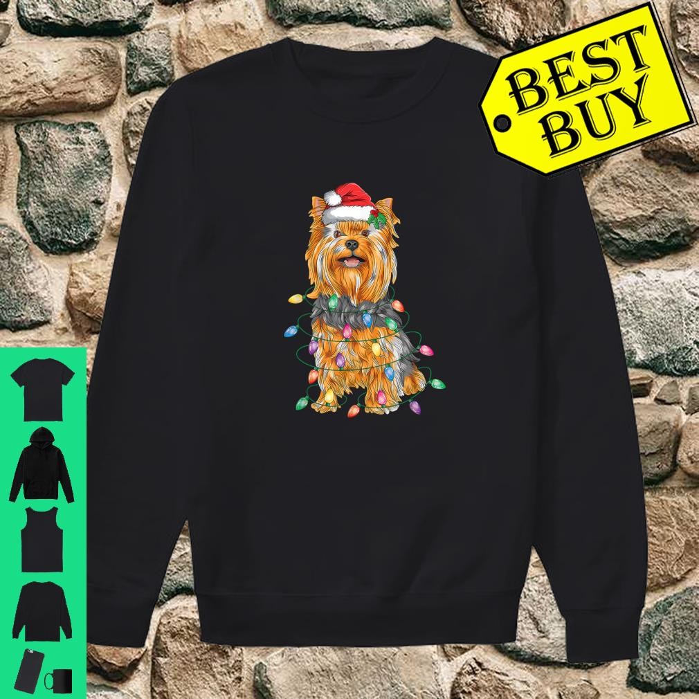 Yorkshire Terrier Christmas Lights Xmas Tree Dog shirt sweater