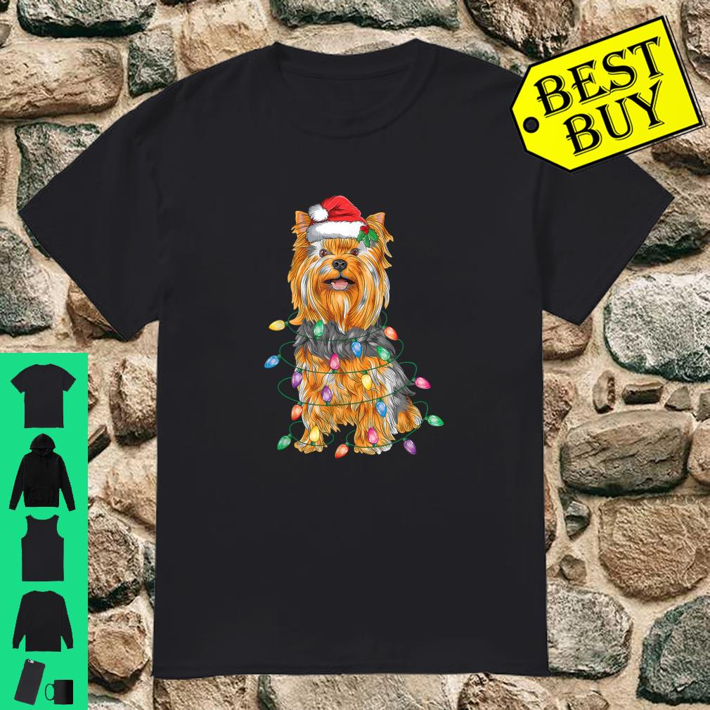 Yorkshire Terrier Christmas Lights Xmas Tree Dog shirt