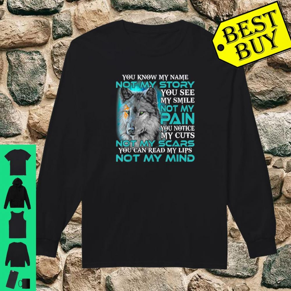 You know my name not my story you see my smile not my pain shirt long sleeved